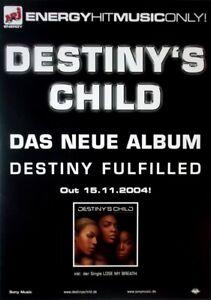 DESTINY'S CHILD - 2004 - Promoplakat - Beyonce - Destiny Fulfilled - Poster - Oberhausen, Deutschland - DESTINY'S CHILD - 2004 - Promoplakat - Beyonce - Destiny Fulfilled - Poster - Oberhausen, Deutschland