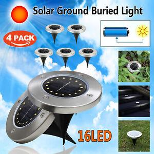 16-LED-Energia-Solar-enterrada-luz-blanca-bajo-tierra-jardin-al-aire-libre-Lamp