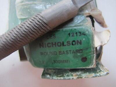"Nicholson 050492N 12/"" Bastard Half Round Handle File 15/"" Overall Length"
