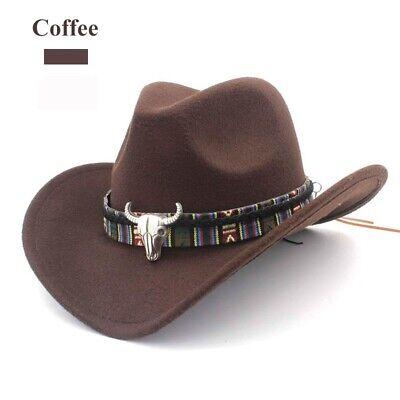 UK Men Cowboy Hat Stetson Style Fedora Sun Summer Western Riding Wide Brim  Cap | eBay
