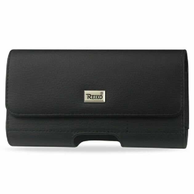 For Apple iPhone 12 Pro Max Premium Black Leather Holster Pouch Belt Clip