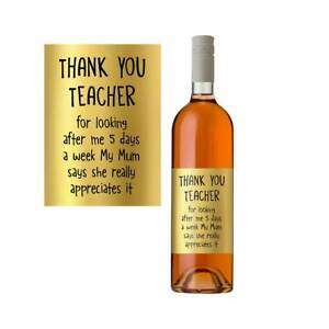 Funny-Nursery-Primary-Teacher-Gift-Present-Wine-Bottle-Label-Thank-You-Best
