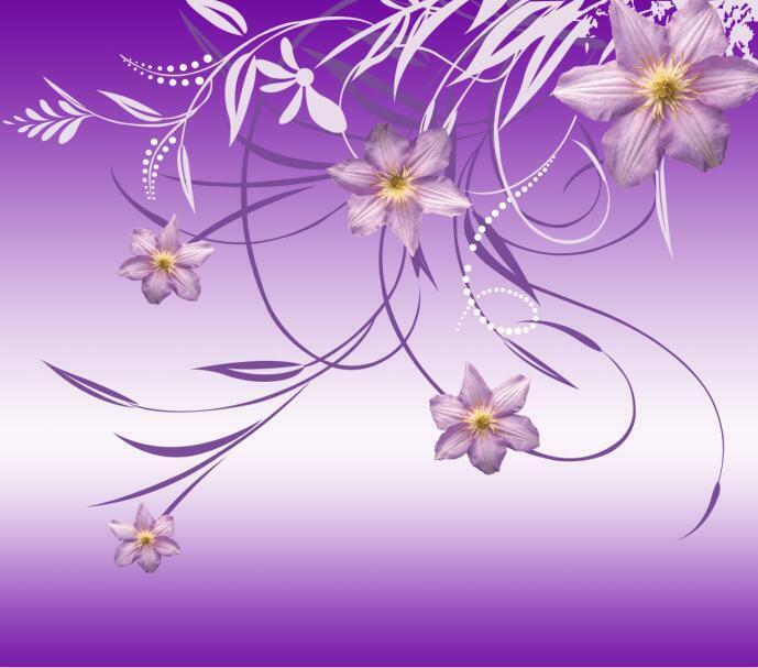 3D Beautiful Flower Vines 19 Wall Paper Print Decal Wall Deco Indoor wall Mural