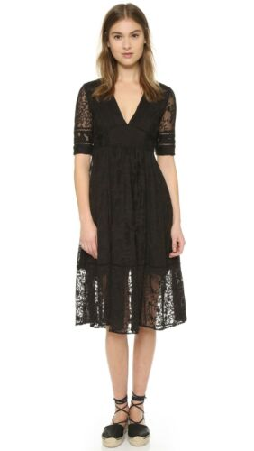 NEW FREE PEOPLE Laurel Black Lace Dress US 8 AU UK 12 Formal Wedding Races