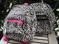 Small Animal Print Cheetah Leopard Backpack Bag School Travel Sports Gym Girls