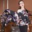 100/% Satin Silk Scarf Women neckerchief Shawl Wrap Floral black blue red JX4-4