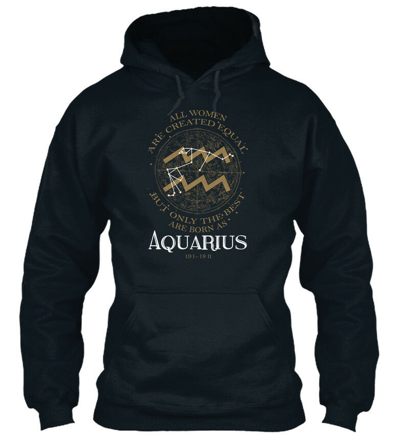 Premium Aquarius - All damen Are Created Equal But Only Only Only Standard College Hoodie  | Niedriger Preis