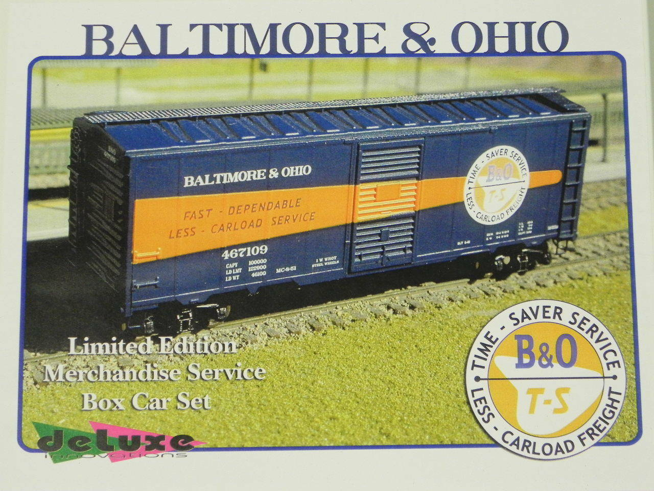 N Scale 10 Boxcar Set Baltimore & Ohio Time Saver Service Ltd Edition