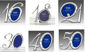 16-18-21-30-40-50th-Birthday-Silver-Finish-Diamante-Number-Photo-Frame-Gift-UK
