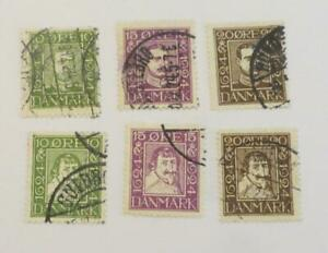 Denmark-1924-Danish-Post-Anniversary-set-left-facing-used