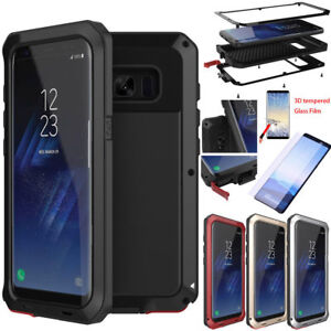 the best attitude ad625 ee4c3 Details about Shockproof Waterproof Gorilla Glass Metal Case Cover Samsung  Galaxy S9 S8 Note 9