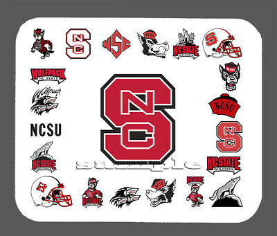 NCAA NC State Wolfpack Domed Car Hitch Cover Red
