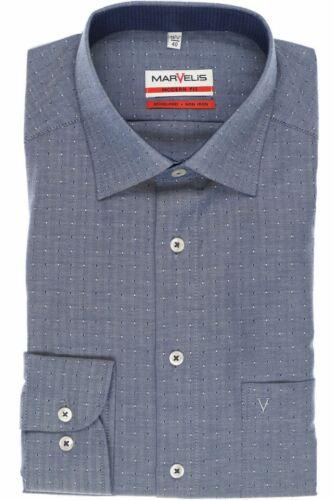 Mens Shirt Marvelis Modern Fit Non Iron Pure Cotton Long Sleeve No2