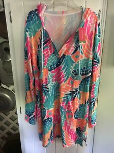 b0cdfd6e63 NWT Lilly Pulitzer Rylie Cover-up Dress Multi Goombay Smashed Large ...