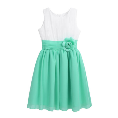 Kids Flower Girl Dress Party Wedding Bridesmaid Tutu Dress Formal Gown Princess