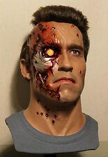 1/1 Lifesize CUSTOM Terminator Genisys bust Arnold Schwarzenegger prop statue