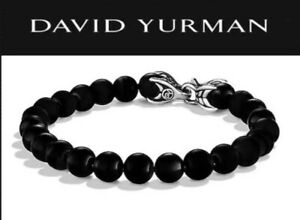 DAVID-YURMAN-Spiritual-Bead-Bracelet-Sterling-Silver-with-Black-onyx-8mm