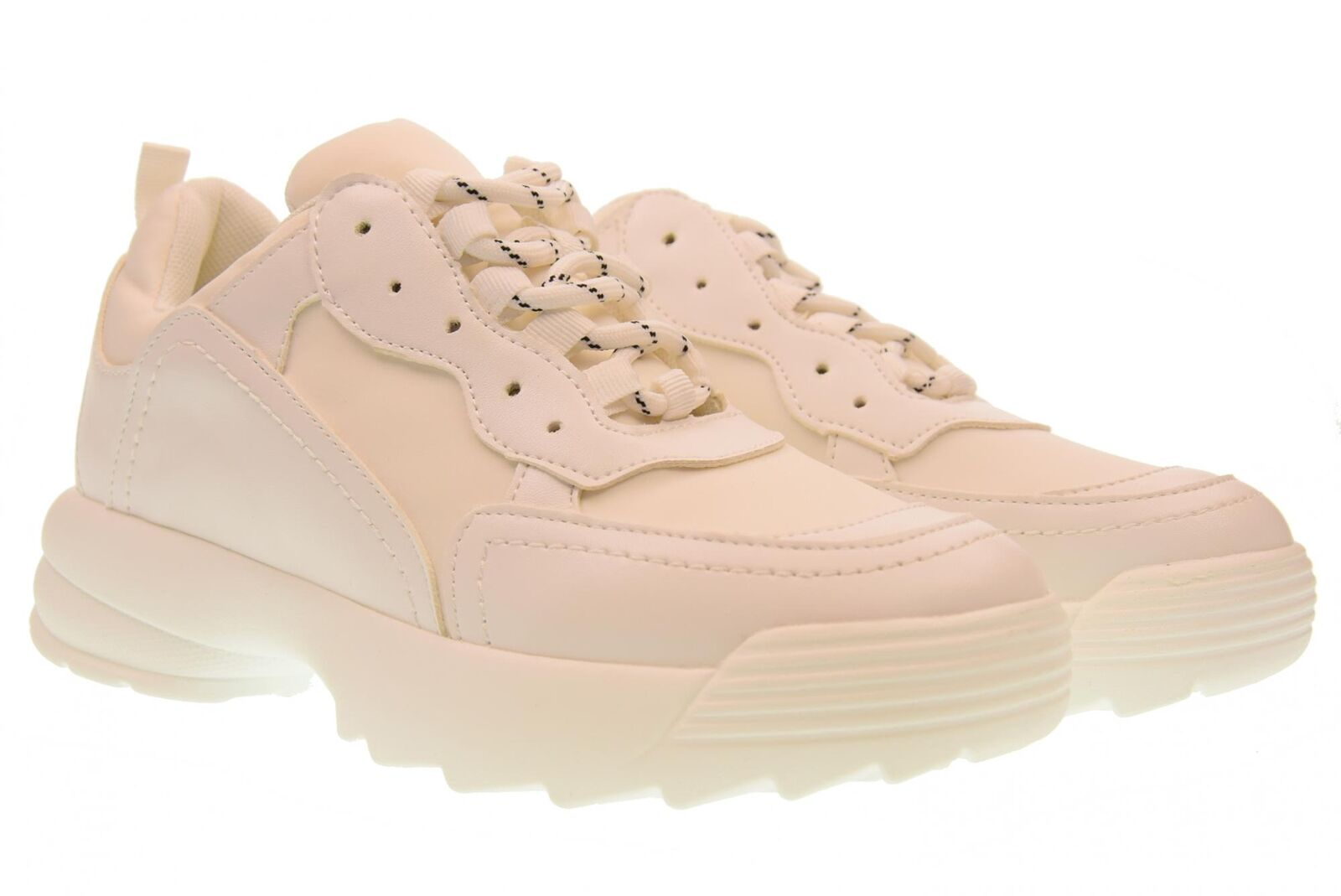or & or a18g Chaussures Femme Basses De Sport Avec Plate-forme gt531 Bianco