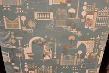 BELGRAVIA MODA MADELINE GARDEN ART DECO CAT BIRD METALLIC WALLPAPER TEAL 503