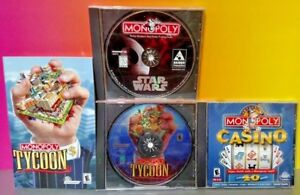 3-Monopoly-Games-Tycoon-Casino-Star-Wars-PC-Game-Lot-Tested-Clean-Discs