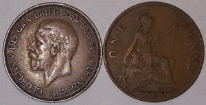 1911 To 1936 George V Penny/Pennies Choix de l'année/date