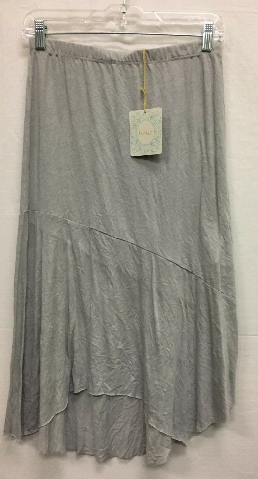Chalet Women's High Low Angular Cut Skirt Grey Style CS7722 NEW with Tags
