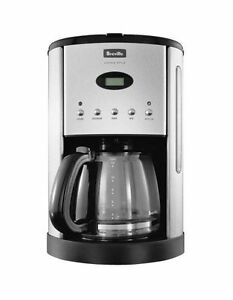 NEW Breville Aroma Style Electronic drip coffee maker BCM600BSS Grey
