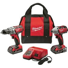 Milwaukee M18 Drill Driver / Impact Cordless Tool Combo Kit 2691-22 2Tools 18V