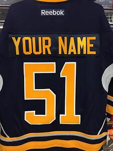 Details about Buffalo Sabres  51 CUSTOM NAME Reebok Premier Replica Jersey  HOME Navy LARGE 40e03f545a3