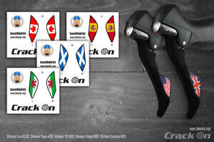 Shimano Road Bike Brake Lever Stickers National Flags (EXCLUSIVE)