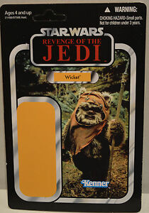 Wicket Ewok - La guerre des étoiles La revanche du Jedi Rotj Vc Proof Card Vc27 2010 Exc / nm
