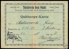 Turnverein Guts Muths Brandenburg, Mitgliedskarte 1925