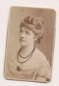 Vintage-CDV-Frau-Werner-German-Actress-Loescher-amp-Petsch-Photo