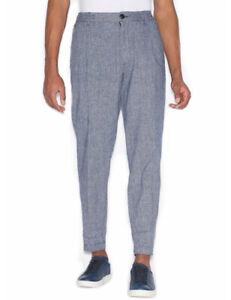 timeless design d659b fe874 Dettagli su ARMANI EXCHANGE pantaloni uomo misto lino morbidi leggeri  estivi 3GZP61