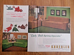 1954 Kroehler Furniture Ad Sofa Chair Twin Sectional Ebay