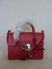 NWT FURLA Ruby Red Saffiano Leather Small Metropolis Satchel Bag $448