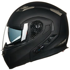 ILM Motorcycle Helmet Integrated Bluetooth Modular Flip Up Motorbike Helmet DOT