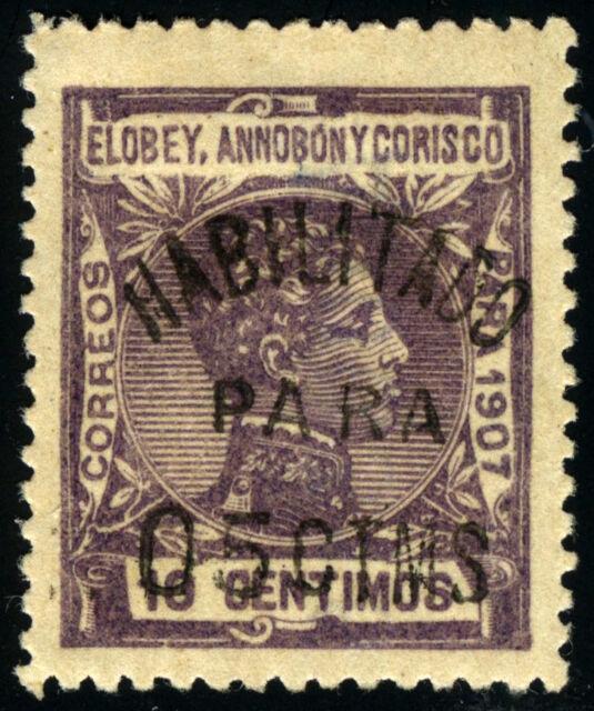 ELOBEY 50E* SELLO HABILITADO DEL TIPO ANTERIOR AÑO 1908-1909