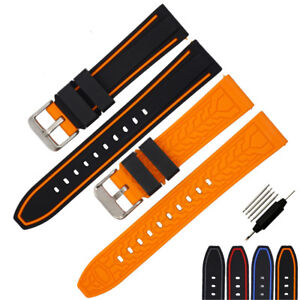 Men-Women-Waterproof-Diving-Silicone-Sport-Watch-Strap-Comfortable-20-22-24-26mm