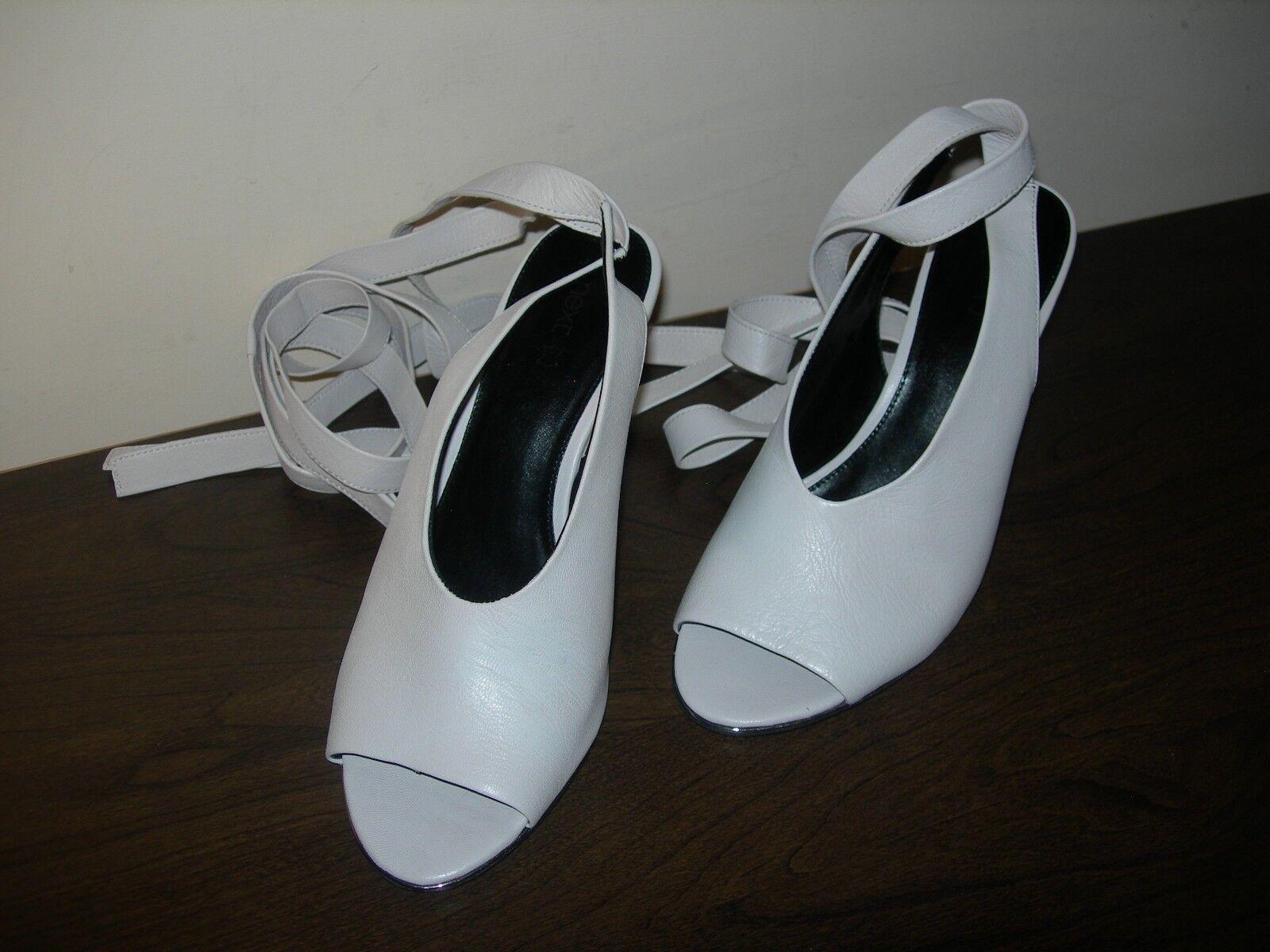 NEXT damen schuhe schuhe schuhe SANDALS WEDGES OPEN TOES LEG TIES CREAM LEATHER EU 41   UK 7 03e457