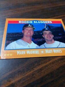 Details About 1988 Score Rookie Sluggers Mark Mcgwirematt Nokes Baseball Trading Card 648