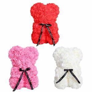 25cm Rose Flower Teddy Bear Gift for Birthday Valentine Wedding Party Kids Love