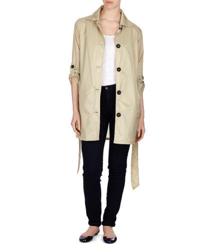 Hunter Ladies Beige Stone Waterproof Raincoat Mac in Bag Jacket S L NWT RRP £165