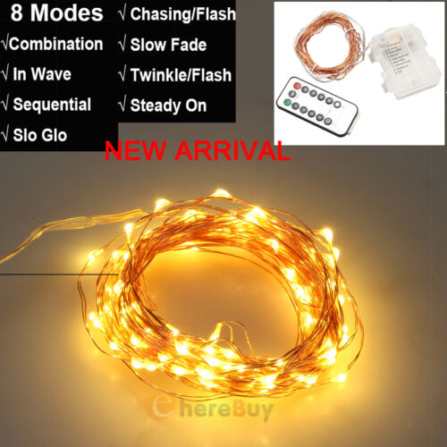 30//50//100 LED Battery Operated String Fairy Lights Bedroom Christmas Party Lamp