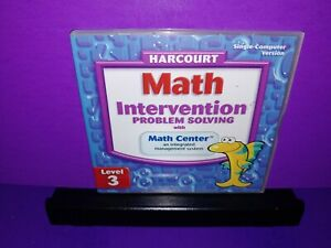 Harcourt Math Intervention Problem Solving W/Math Center Level 3 PC CD ROM B585