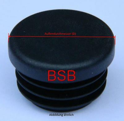 10 runde Lamellenstopfen 18 mm WS 1 - 2,5 mm schwarz Endkappen