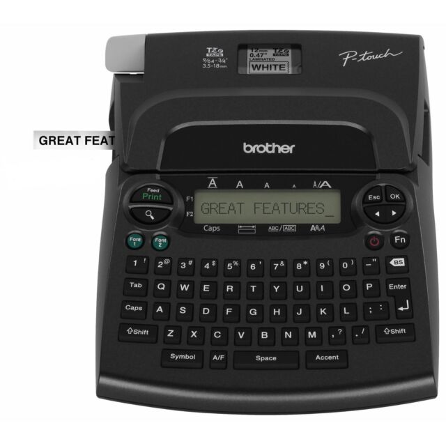 Brother Pt 1890 P Touch Deluxe Label Maker Thermal Printer: Brother PT1890 P-touch Label Maker No Power Cord Or