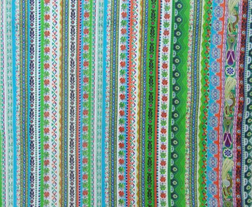 Light Weight Indian Multicolor Printed Crafting Material Fabric Sewing By 1 Yd