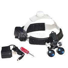 35x Medical Surgical Dental Led Headlight Headband Binocular Loupes Black