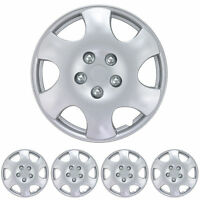 15 Hubcaps 4 Piece Replacement Durable Abs Material Snap On Fit Wheel Cap on sale
